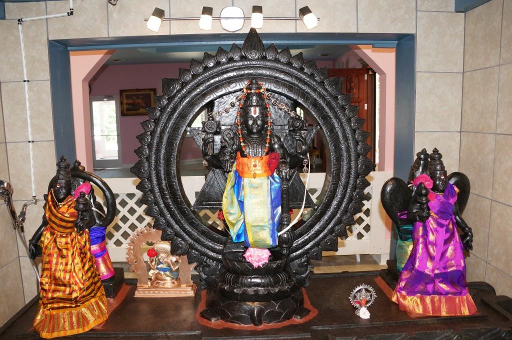 Amrutha Narayana with Sridevi & Bhumadevi