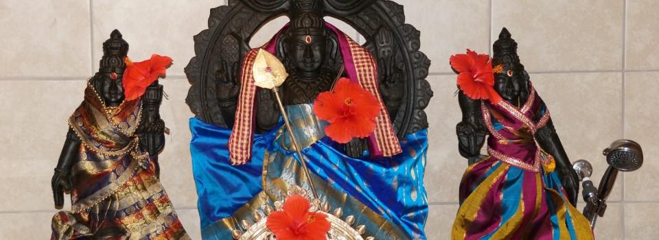 Subramanyeswara with Valli & Devasena