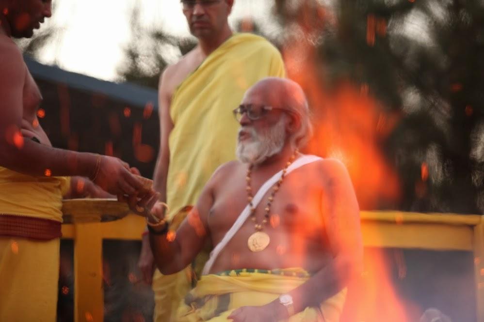 Agni Lakshanam during Kumbhabhisekham