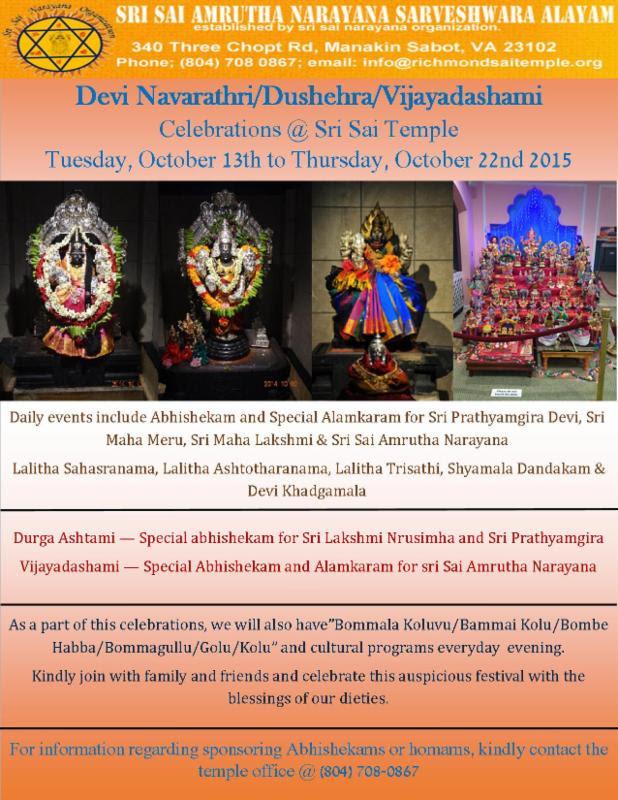 Devi Navaratri Celebrations